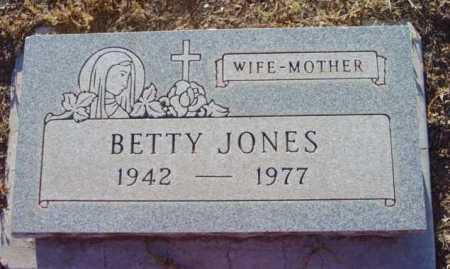 JONES, BETTY - Yavapai County, Arizona | BETTY JONES - Arizona Gravestone Photos