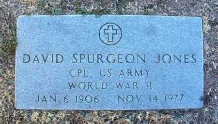 JONES, DAVID SPURGEON - Yavapai County, Arizona   DAVID SPURGEON JONES - Arizona Gravestone Photos