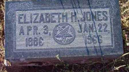 JONES, ELIZABETH H. - Yavapai County, Arizona | ELIZABETH H. JONES - Arizona Gravestone Photos