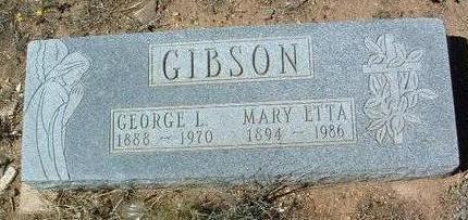 JONES GIBSON, MARY ETTA - Yavapai County, Arizona | MARY ETTA JONES GIBSON - Arizona Gravestone Photos