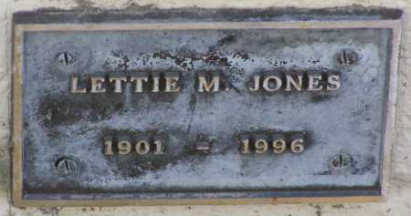 JONES, LETTIE M - Yavapai County, Arizona | LETTIE M JONES - Arizona Gravestone Photos