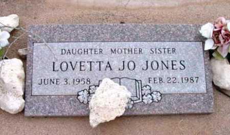 JONES, LOVETTA JO - Yavapai County, Arizona   LOVETTA JO JONES - Arizona Gravestone Photos