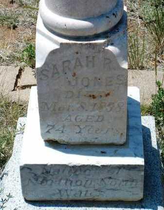 JONES, SARAH R. - Yavapai County, Arizona   SARAH R. JONES - Arizona Gravestone Photos