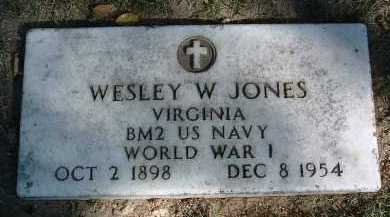 JONES, WESLEY W. - Yavapai County, Arizona   WESLEY W. JONES - Arizona Gravestone Photos