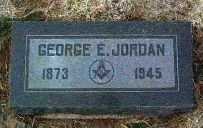 JORDAN, GEORGE ERNEST - Yavapai County, Arizona   GEORGE ERNEST JORDAN - Arizona Gravestone Photos