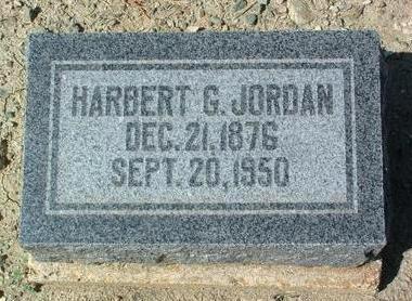 JORDAN, HARBERT G. - Yavapai County, Arizona   HARBERT G. JORDAN - Arizona Gravestone Photos