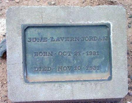 JORDAN, JUNE LAVERN - Yavapai County, Arizona   JUNE LAVERN JORDAN - Arizona Gravestone Photos
