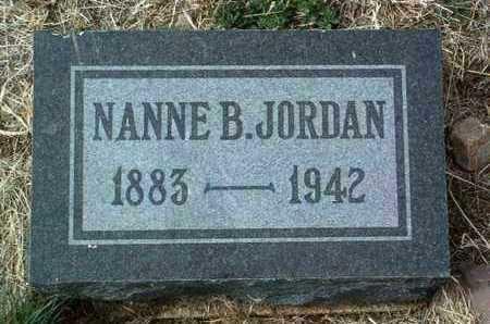 JORDAN, NANNE B. - Yavapai County, Arizona | NANNE B. JORDAN - Arizona Gravestone Photos