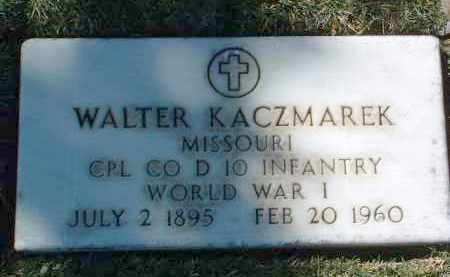 KACZMAREK, WALTER - Yavapai County, Arizona | WALTER KACZMAREK - Arizona Gravestone Photos