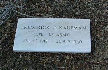 KAUFMAN, FREDERICK J. - Yavapai County, Arizona   FREDERICK J. KAUFMAN - Arizona Gravestone Photos
