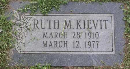 KIEVIT, RUTH M. - Yavapai County, Arizona | RUTH M. KIEVIT - Arizona Gravestone Photos