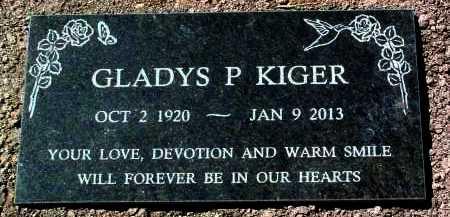 KIGER, GLADYS P. - Yavapai County, Arizona | GLADYS P. KIGER - Arizona Gravestone Photos
