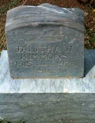 KIMMONS, TALITHA J. - Yavapai County, Arizona | TALITHA J. KIMMONS - Arizona Gravestone Photos