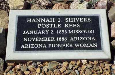SHIVERS POSTLE, HANNAH ISABELLE - Yavapai County, Arizona | HANNAH ISABELLE SHIVERS POSTLE - Arizona Gravestone Photos