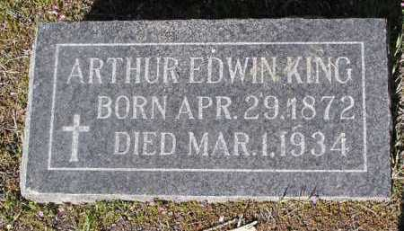 KING, ARTHUR EDWIN - Yavapai County, Arizona   ARTHUR EDWIN KING - Arizona Gravestone Photos
