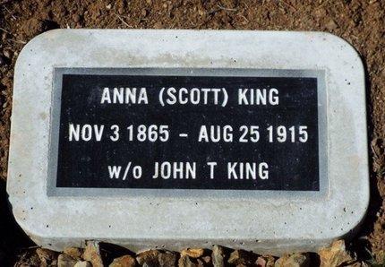 SCOTT KING, ANNA - Yavapai County, Arizona   ANNA SCOTT KING - Arizona Gravestone Photos