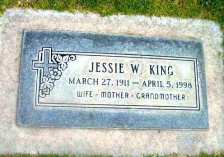 KING, JESSIE W. - Yavapai County, Arizona | JESSIE W. KING - Arizona Gravestone Photos