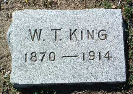 KING, W. T. - Yavapai County, Arizona | W. T. KING - Arizona Gravestone Photos