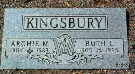 KINGSBURY, RUTH LOUISE - Yavapai County, Arizona   RUTH LOUISE KINGSBURY - Arizona Gravestone Photos