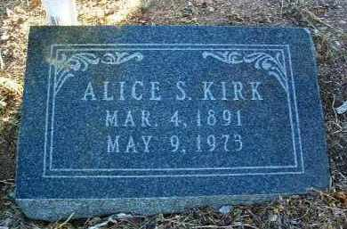 KIRK, ALICE SARAH - Yavapai County, Arizona | ALICE SARAH KIRK - Arizona Gravestone Photos