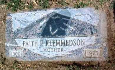 KLEMMEDSON, FAITH E. - Yavapai County, Arizona   FAITH E. KLEMMEDSON - Arizona Gravestone Photos