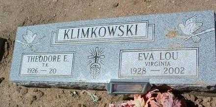 KLIMKOWSKI, EVA LOU VIRGINIA - Yavapai County, Arizona | EVA LOU VIRGINIA KLIMKOWSKI - Arizona Gravestone Photos