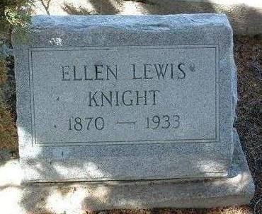 LEWIS KNIGHT, ELLEN L. - Yavapai County, Arizona | ELLEN L. LEWIS KNIGHT - Arizona Gravestone Photos