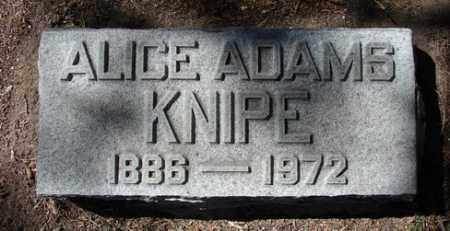 ADAMS KNIIPE, ALICE - Yavapai County, Arizona | ALICE ADAMS KNIIPE - Arizona Gravestone Photos