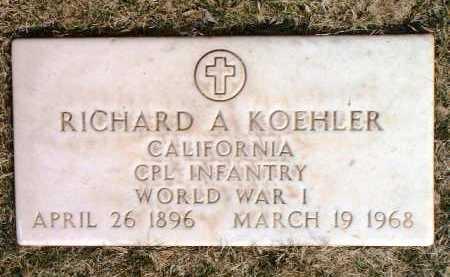 KOEHLER, RICHARD A. - Yavapai County, Arizona   RICHARD A. KOEHLER - Arizona Gravestone Photos