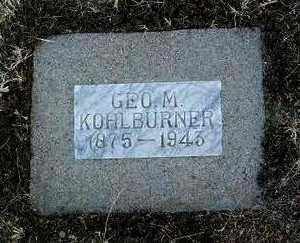 KOHLBURNER, GEORGE M. - Yavapai County, Arizona | GEORGE M. KOHLBURNER - Arizona Gravestone Photos