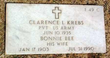 KREBS, CLARENCE LOUIS - Yavapai County, Arizona | CLARENCE LOUIS KREBS - Arizona Gravestone Photos