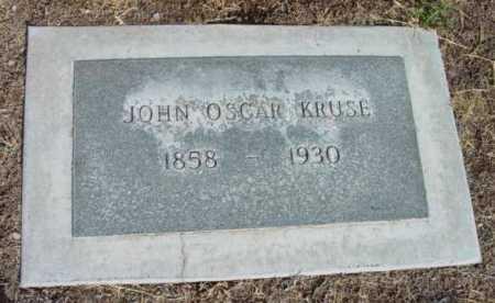KRUSE, JOHN OSCAR - Yavapai County, Arizona | JOHN OSCAR KRUSE - Arizona Gravestone Photos