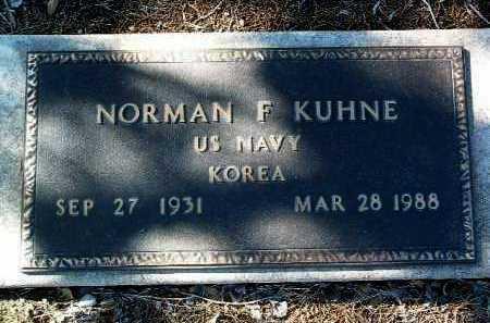 KUHNE, NORMAN FRANK - Yavapai County, Arizona   NORMAN FRANK KUHNE - Arizona Gravestone Photos