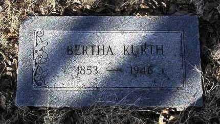 KAUFMAN KURTH, BERTHA - Yavapai County, Arizona | BERTHA KAUFMAN KURTH - Arizona Gravestone Photos
