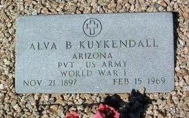 KUYKENDALL, ALVA BENJAMIN - Yavapai County, Arizona   ALVA BENJAMIN KUYKENDALL - Arizona Gravestone Photos