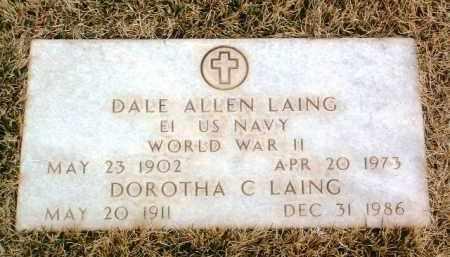 LAING, DALE ALLEN - Yavapai County, Arizona | DALE ALLEN LAING - Arizona Gravestone Photos