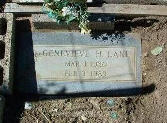 JONES LANE, GENEVIEVE H. - Yavapai County, Arizona | GENEVIEVE H. JONES LANE - Arizona Gravestone Photos