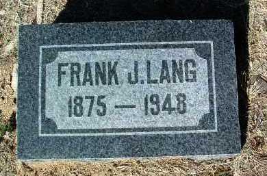 LANG, FRANK J. - Yavapai County, Arizona | FRANK J. LANG - Arizona Gravestone Photos