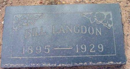 LANGDON, WILLIAM ORVILLE  (BILL) - Yavapai County, Arizona   WILLIAM ORVILLE  (BILL) LANGDON - Arizona Gravestone Photos