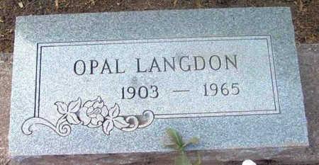 LANGDON, OPAL - Yavapai County, Arizona | OPAL LANGDON - Arizona Gravestone Photos
