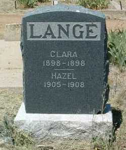LANGE, CLARA - Yavapai County, Arizona | CLARA LANGE - Arizona Gravestone Photos