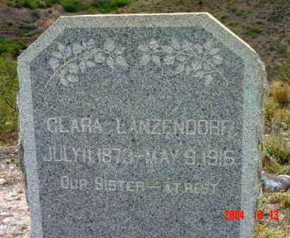 LANZENDORF, CLARA - Yavapai County, Arizona | CLARA LANZENDORF - Arizona Gravestone Photos