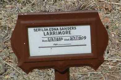 SANDERS LARRIMORE, SERILDA EDNA - Yavapai County, Arizona | SERILDA EDNA SANDERS LARRIMORE - Arizona Gravestone Photos