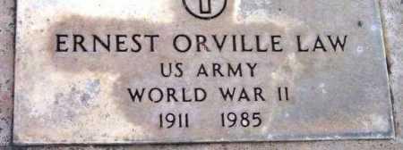 LAW, ERNEST ORVILLE - Yavapai County, Arizona | ERNEST ORVILLE LAW - Arizona Gravestone Photos
