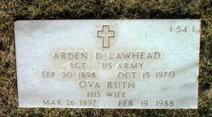 LAWHEAD, ARDEN DEWEY - Yavapai County, Arizona   ARDEN DEWEY LAWHEAD - Arizona Gravestone Photos
