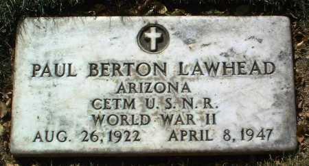 LAWHEAD, PAUL BERTON - Yavapai County, Arizona | PAUL BERTON LAWHEAD - Arizona Gravestone Photos