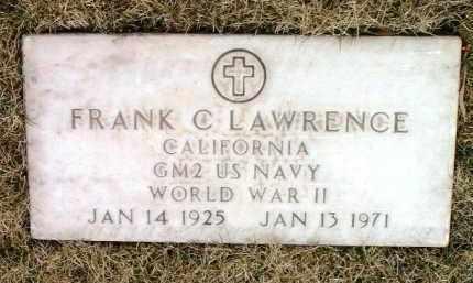 LAWRENCE, FRANK CHARLES - Yavapai County, Arizona | FRANK CHARLES LAWRENCE - Arizona Gravestone Photos