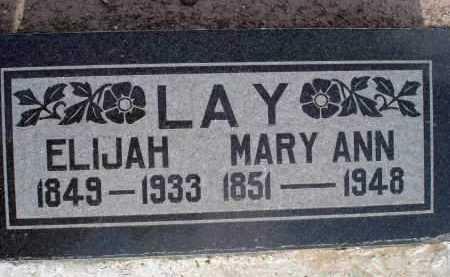 LAY, ELIJAH - Yavapai County, Arizona   ELIJAH LAY - Arizona Gravestone Photos