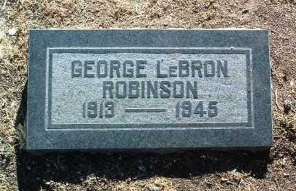 ROBINSON, GEORGE LEBRON - Yavapai County, Arizona | GEORGE LEBRON ROBINSON - Arizona Gravestone Photos