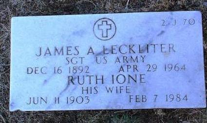 LECKLITER, JAMES A. - Yavapai County, Arizona | JAMES A. LECKLITER - Arizona Gravestone Photos